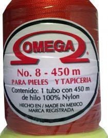 HILO NYLON OMEGA #8 450m ROJO C63