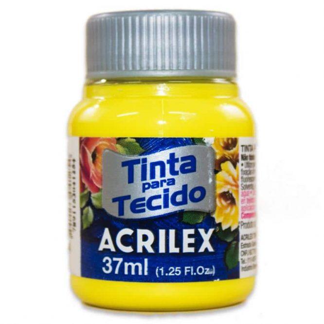 PINTURA ACRILEX MATE 37ML 504 AMARILLO LIMON