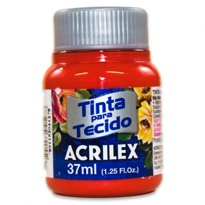 PINTURA ACRILEX MATE 37ML 507 ROJO FUEGO
