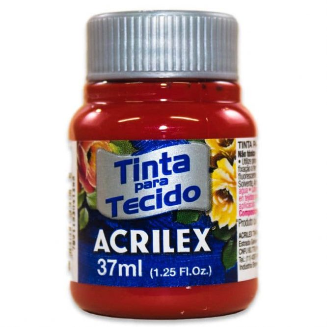 PINTURA ACRILEX MATE 37ML 508 ROJO ESCARLATA