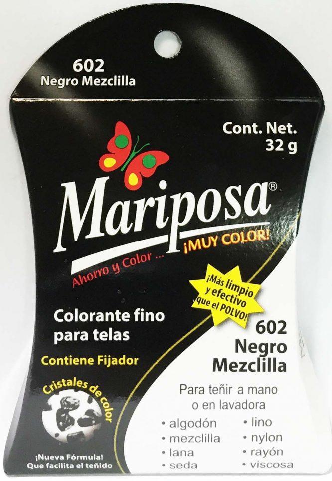 MARIPOSA CRISTALES NEGRO 601