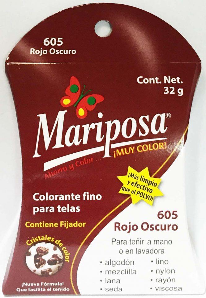 MARIPOSA CRISTALES ROJO OBSCURO 605