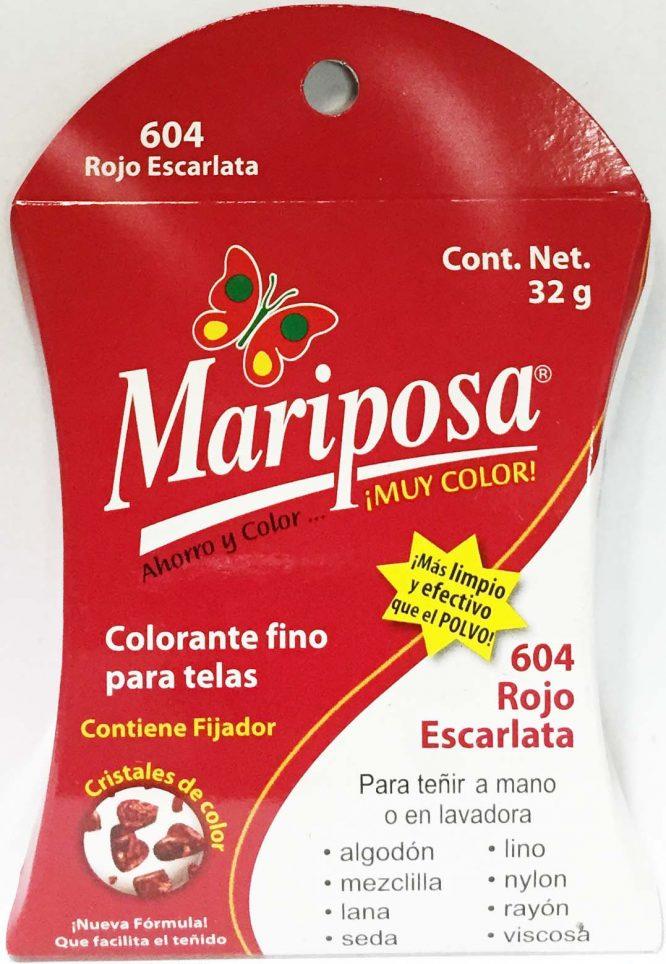 MARIPOSA CRISTALES ROJO ESCARLATA 604