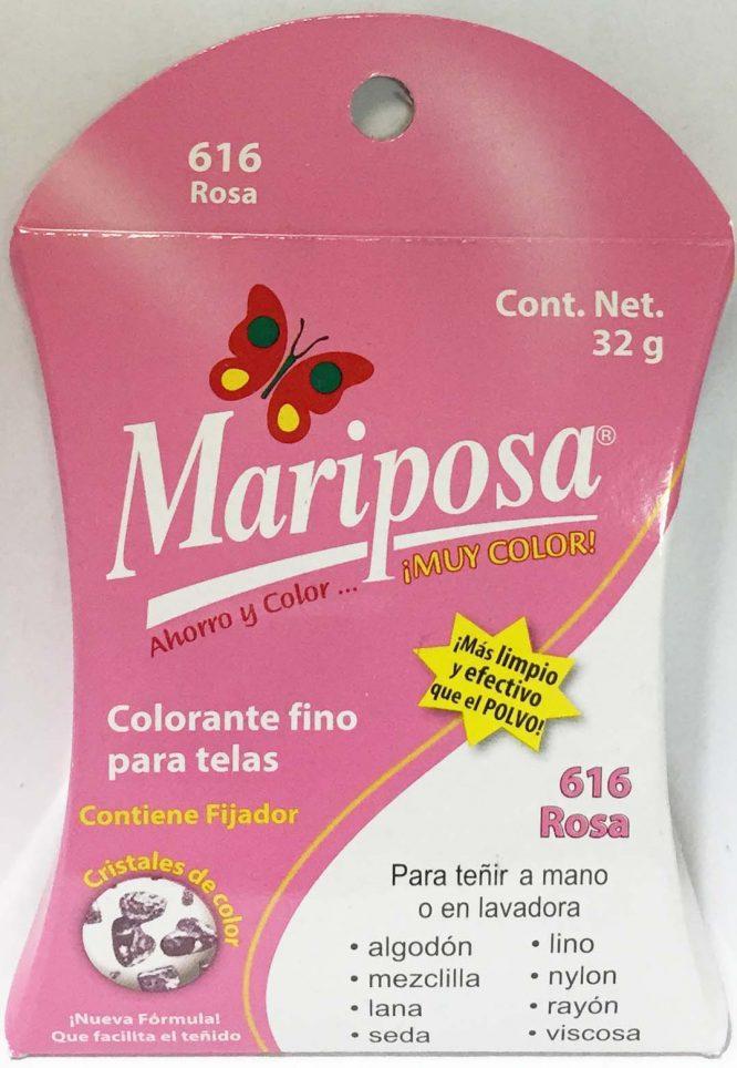 MARIPOSA CRISTALES ROSA 616