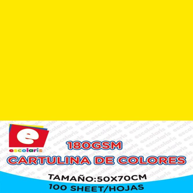Cartulina ESCOLARIS 50X70CM AMARILLA