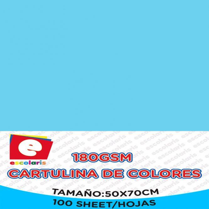 Cartulina ESCOLARIS 50X70CM CELESTE