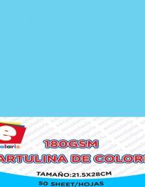 Cartulina ESCOLARIS 8.5x11 CELESTE